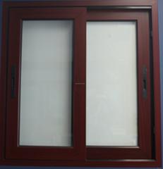 sliding window woden color pvc sliding window