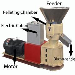 flat die wood pellet mill
