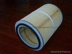 Antistatic filter dust cartridge