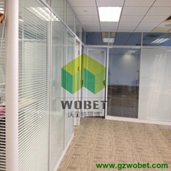 office partition glass wall with Louver