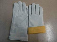 long leather welding glove
