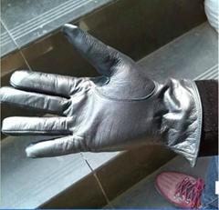 black cowhide leather glove