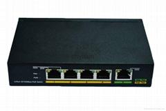 4-Port 10/100Mbps +1-Port 100Mbps SFP POE switch