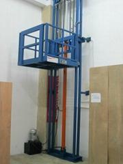 单体导轨式液压货梯