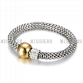 High quality power balance silver plated bracelet NSB621STWGG 2