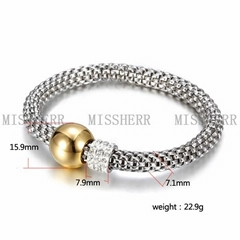 High quality power balance silver plated bracelet NSB621STWGG