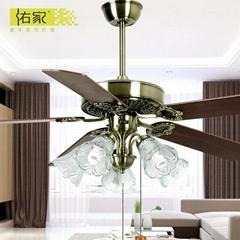 52 inch antique brass decorative concise ceiling fan