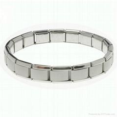 316L stainless steel starter italian charm bracelet