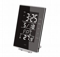 海榕矩形日曆功能LCD數字鬧鐘