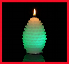 Christmas Pinecone battery-operated Color-changing LED candles