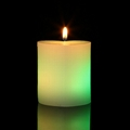Romantic Valentine's Day Pillar heart Shape Color changing  LED candles 4