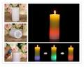Pillar Shape Color-changing LED candles