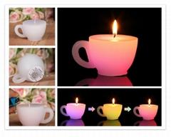 Battery operated Color changing Mug Shape LED candles
