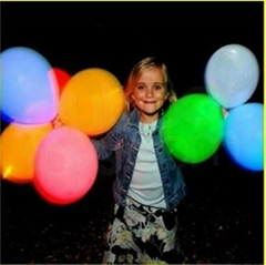 Round Shape 18 inch LED flashing balloon