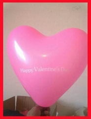 LED flashing balloon Heart Shape