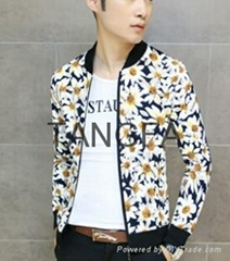 2014 autumn new men's casual jackets spend tide Korean Slim thin section collar