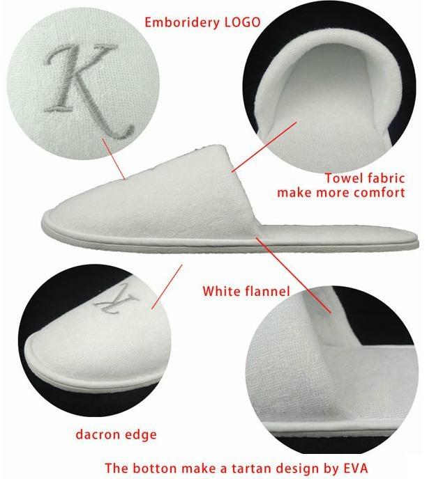 Towel fabric hotel slipper 4