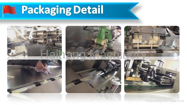 HDSJ-2500 wet tissue and plastic flatware pack machine 4