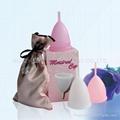 100% silicone menstrual cup