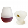 Hot Selling Product Modern Design Silicone Wine Cups