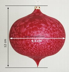 Christmas Ball Hanging Ornament For Christmas Gift Glass Onion Shape Design