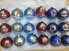 The Cheapest Glass Christmas Baubles With Paper Transfer And Hand Painting Decor