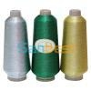 Metallic Embroidery Thread with Polyester or Rayon Core Yarn (Si  er, Gold and C