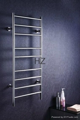 wall mounted stainless steel electric heated towel rail