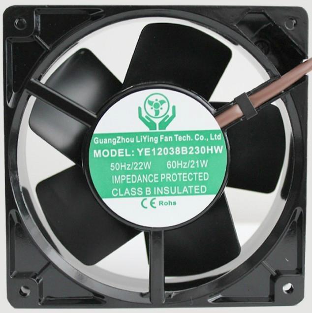 铁叶耐高温散热风扇YE12038B230HW 1