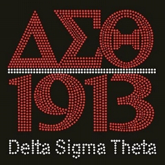 Delta Sigma Theta rhinestone transfer for tshirt