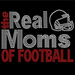 the real Football Mom Rhinestone Transfer fro tshirt
