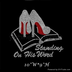 Standing On His Word Hotfix Motifs, Holy Bible Heels rhinestone transfer