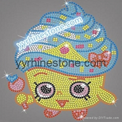 cartoon shopkins hotfix rhinestone transfers