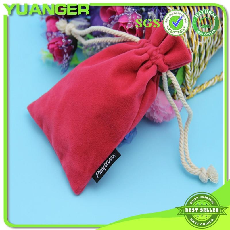 2014 China Mini Necklace Jewelry Custom Ve  et Drawstring Nurses Pouch Bag Manuf 1