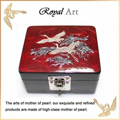 Luxury Jewelry Box with Mother of pearl inlaid; CL-25
