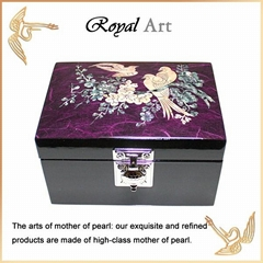 Luxury Jewelry Box with Mother of pearl inlaid; CL-92