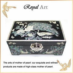 Luxury Jewelry Box with Mother of pearl inlaid; CL-101