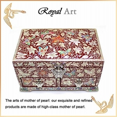 Luxury Jewelry Box with Mother of pearl inlaid; DR-503