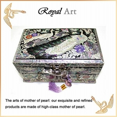 Luxury Jewelry Box with Mother of pearl inlaid; DR-505
