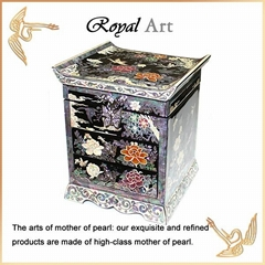 Luxury Jewelry Box with Mother of pearl inlaid; DR-508
