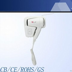 2014 hot sell wall mounted hair dryer