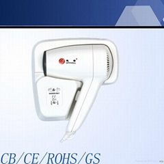Hot sale and good quality wall mounted hair dryer