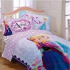 New Disney Frozen Celebrate Love Reversible 4 Pieces Bed Set- Twin Duvet Cover