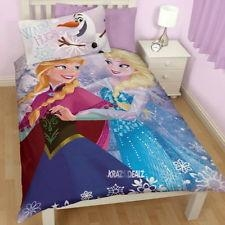 New Disney Frozen Crystal Single Panel Duvet Cover Bed Set  Gift Elsa Anna Olaf