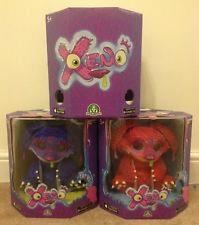 Xeno Toy Interactive Monster Plush - Blue Orange Violet