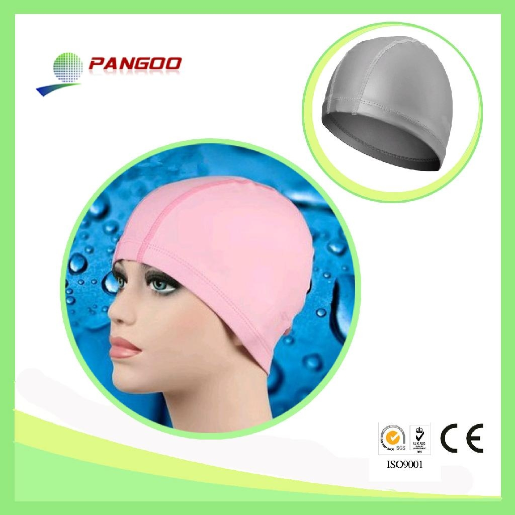 High Quality and Fashion Design Silicone Ear Waterproof Swim Caps  1