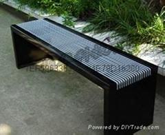 公园园林椅铸铁四脚靠背园林椅ZH-Y2005