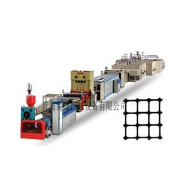 PE one-way to two-way stretch geogrid production line 1