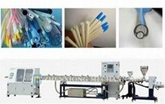 Precision medical catheter extrusion line