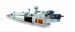 PVC inner spiral noise-abating pipe production line